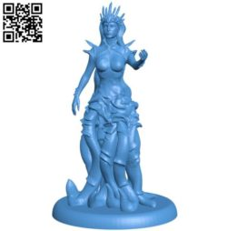 Umberlee Sea Queen B004225 file stl free download 3D Model for CNC and 3d printer