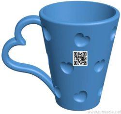 Valentines Mug B004147 file stl free download 3D Model for CNC and 3d printer