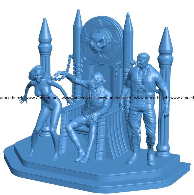 Vampire Diorama B003779 file stl free download 3D Model for CNC and 3d printer
