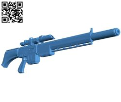 Vindicare rifle gun B004396 file stl free download 3D Model for CNC and 3d printer