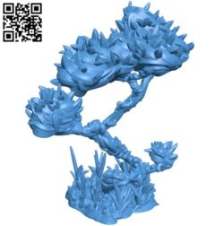 Vine tree B004289 file stl free download 3D Model for CNC and 3d printer