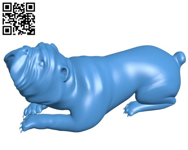 Waiting dog B004203 file stl free download 3D Model for CNC and 3d printer