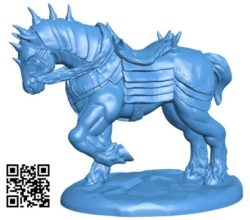 War Horse B004200 file stl free download 3D Model for CNC and 3d printer