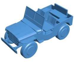 Willys jeep car B004092 file stl free download 3D Model for CNC and 3d printer