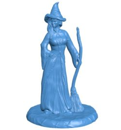 Witch Woman B004059 file stl free download 3D Model for CNC and 3d printer