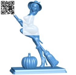 Witch Women B004274 file stl free download 3D Model for CNC and 3d printer