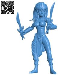 Witch elf women B004272 file stl free download 3D Model for CNC and 3d printer