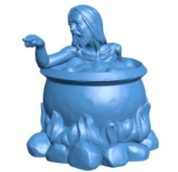 Woman hot tub B003845 file stl free download 3D Model for CNC and 3d printer