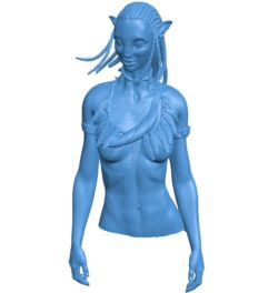 Woman neytiri top mix B003817 file stl free download 3D Model for CNC and 3d printer