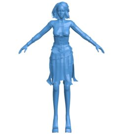 Woman scary witch B004025 file stl free download 3D Model for CNC and 3d printer