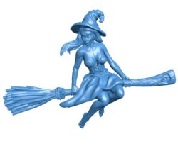 Woman witch B004095 file stl free download 3D Model for CNC and 3d printer