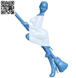 Woman witch B004209 file stl free download 3D Model for CNC and 3d printer