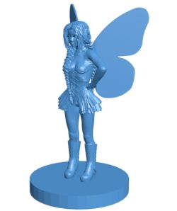 Women fairy B003819 file stl free download 3D Model for CNC and 3d printer