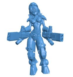 Women shadowsun echi B004117 file stl free download 3D Model for CNC and 3d printer