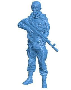 Zombie Soldier B003882 file stl free download 3D Model for CNC and 3d printer