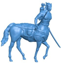 Centaur with swords B003915 file stl free download 3D Model for CNC and 3d printer