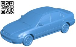 1998 Honda Civic LX car B004769 file stl free download 3D Model for CNC and 3d printer