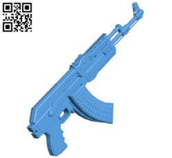 AK gun B004579 file stl free download 3D Model for CNC and 3d printer