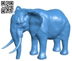 African elephant B004577 file stl free download 3D Model for CNC and 3d printer