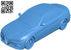 Alfa Romeo Giulia car B004582 file stl free download 3D Model for CNC and 3d printer