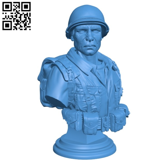 American soldier man B004774 file stl free download 3D Model for CNC and 3d printer