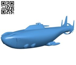 Atlas submarine ship model B004606 file stl free download 3D Model for CNC and 3d printer