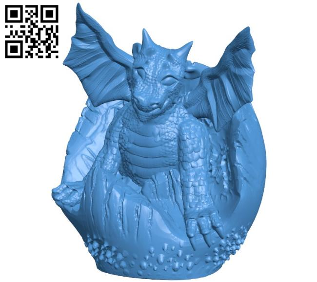 Baby Dragon B004491 file stl free download 3D Model for CNC and 3d printer