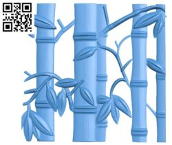 Bamboo Pattern flowers A003305 wood carving file stl for Artcam and Aspire jdpaint free vector art 3d model download for CNC
