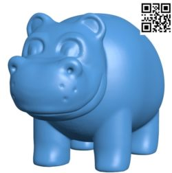 Bank Cartoon Hippo B004612 file stl free download 3D Model for CNC and 3d printer