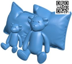 Bear with pillows B004799 file stl free download 3D Model for CNC and 3d printe