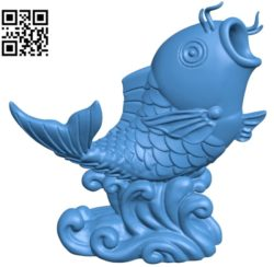 Big Fish B004800 file stl free download 3D Model for CNC and 3d printe