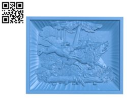 Boar hunting A003390 wood carving file stl for Artcam and Aspire free art 3d model download for CNC
