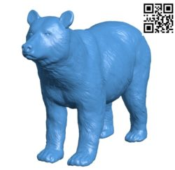 Brown bear figurine B004809 file stl free download 3D Model for CNC and 3d printer