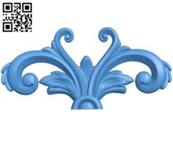 Butterfly wing pattern A003434 wood carving file stl for Artcam and Aspire free art 3d model download for CNC