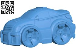 Cartoon police car B004820 file stl free download 3D Model for CNC and 3d printer