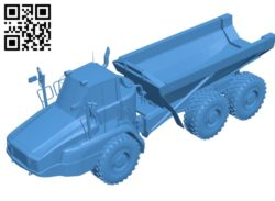 Cat 725C2 truck B004822 file stl free download 3D Model for CNC and 3d printer