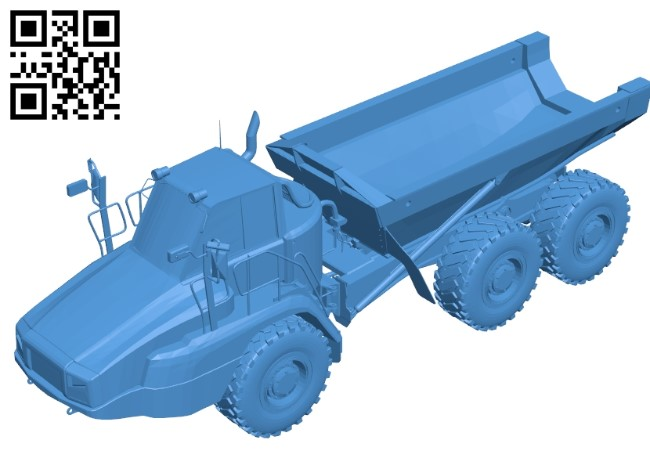 Cat 725C2 truck B004822 file stl free download 3D Model for CNC and 3d printer
