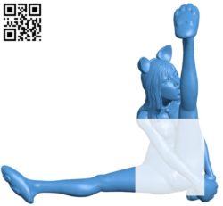 Cat woman B004823 file stl free download 3D Model for CNC and 3d printer