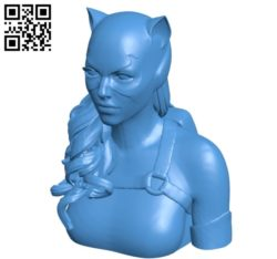 Cat woman Statue B004824 file stl free download 3D Model for CNC and 3d printer