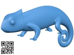 Chameleon figurine B004827 file stl free download 3D Model for CNC and 3d printer