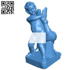 Child and goose B004828 file stl free download 3D Model for CNC and 3d printer