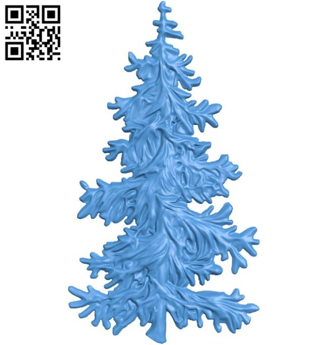 Christmas tree A003369 wood carving file stl for Artcam and Aspire free art 3d model download for CNC