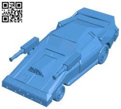 Combat car B004559 file stl free download 3D Model for CNC and 3d printer