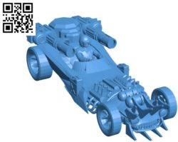 Combat car B004570 file stl free download 3D Model for CNC and 3d printer