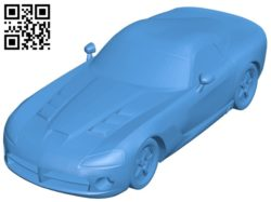Dodge Viper car B004598 file stl free download 3D Model for CNC and 3d printer