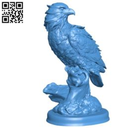 Eagle perched on a ledge B004536 file stl free download 3D Model for CNC and 3d printer