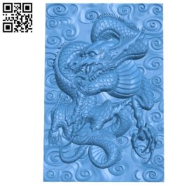 Eastern dragon A003464 wood carving file stl for Artcam and Aspire free art 3d model download for CNC