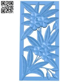 Fern 3d murals tree  A003371 wood carving file stl for Artcam and Aspire free art 3d model download for CNC