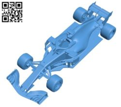 Formula one racing car B004567 file stl free download 3D Model for CNC and 3d printer