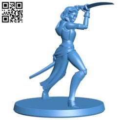 Girl with the sword B004649 file stl free download 3D Model for CNC and 3d printer